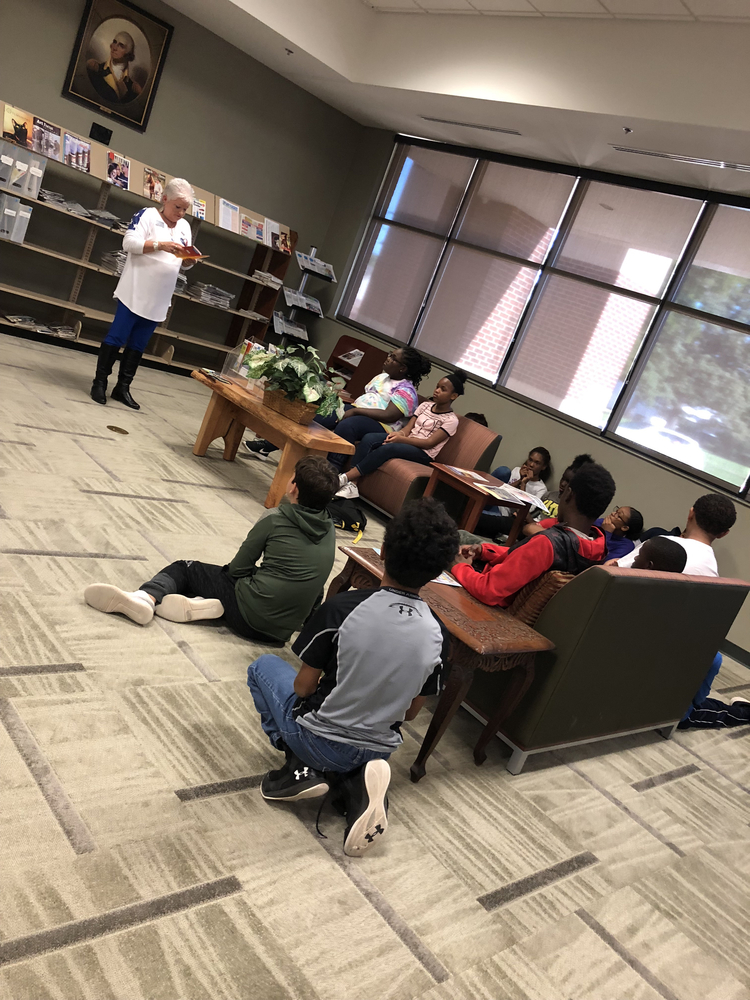 IMS students from 21st Century ABC visit the Idabel Public Library