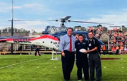 Air Evac ball delivers game ball 2018