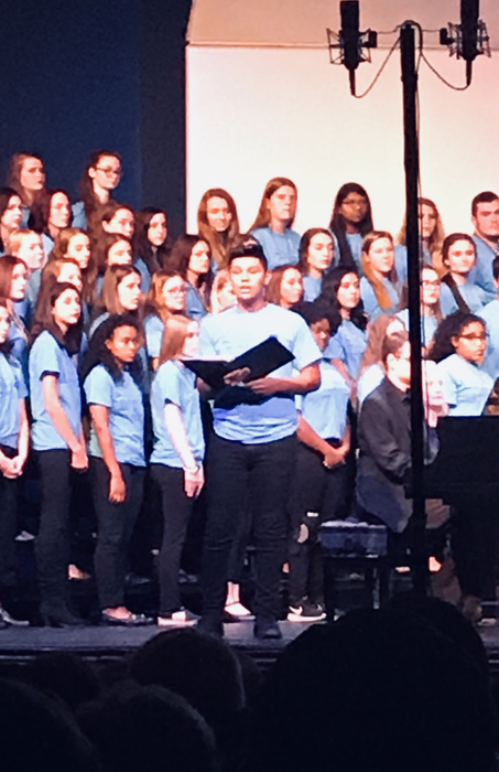 Caleb Sanchez solo All District Choir 2018