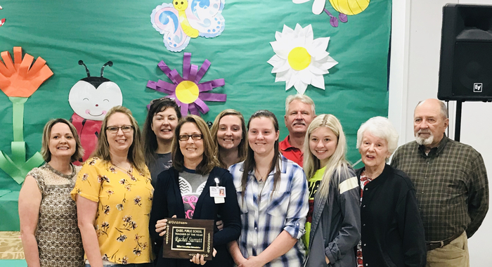 Teacher of the Year 2019 Rachel Sarratt
