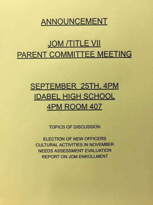 JOM Parent Mtg Flyer