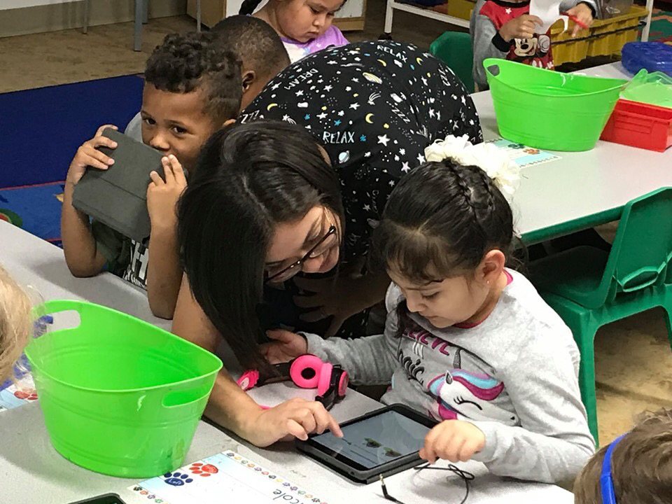 Pre-K learning with the iPads 2019