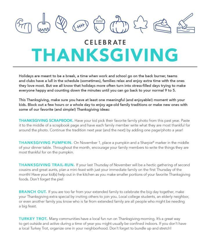Thanksgiving Time Matters 2019