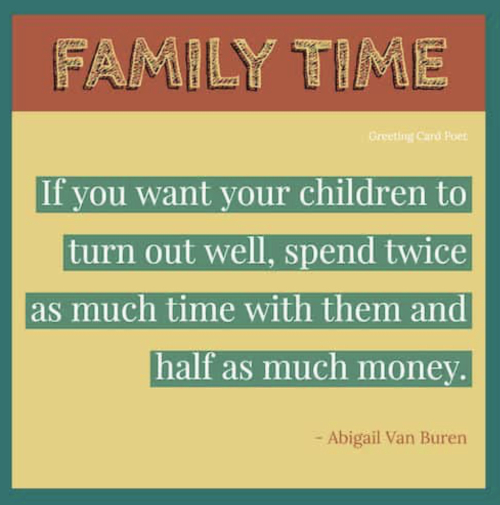 Time matters family time