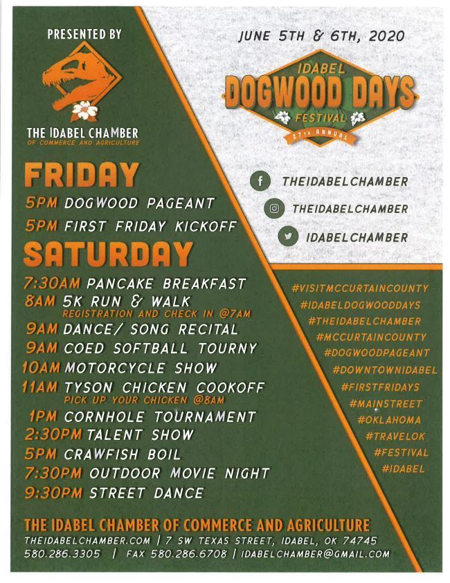 2020 Dogwood Days Flyer