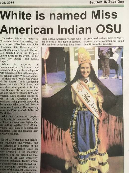 CWhite Miss American Indian