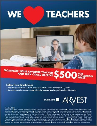 Arvest We Love Teachers